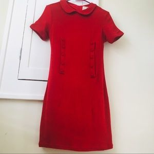 ModCloth Red Peter Pan Collar Dress 60s sixties